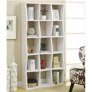 Contemporary Bookshelf with Asymmetrical Shelves
