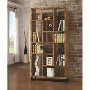 Open Bookcase with Different Sized Cubbies