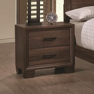 Transitional Two Drawer Nightstand