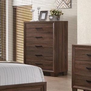 Transitional Five Drawer Chest
