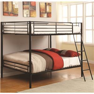 Coaster Bunks Full over Full Bunk Bed