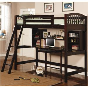 Coaster Bunks Twin Workstation Bunk