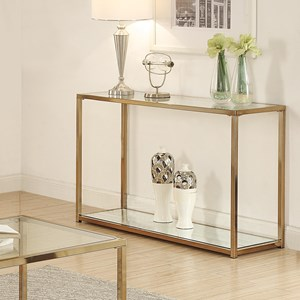Sofa Table with Mirror Shelf