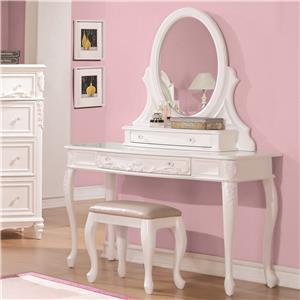 Coaster Caroline Vanity Desk & Mirror