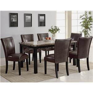 Coaster Carter 7 Piece Dining Table Set