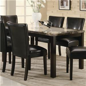 Coaster Carter Rectangular Leg Dining Table