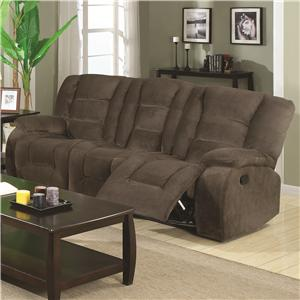 Brown Motion Reclining Sofa with Casual Style