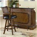 Coaster Clarendon Traditional Bar Stool with Leather Seat - Shown with Bar Unit