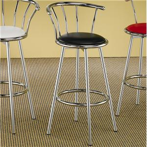 Coaster Cleveland Chrome Plated Bar Stool