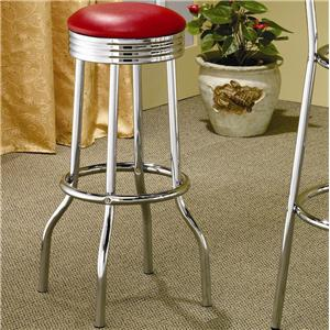 Coaster Cleveland Soda Fountain Bar Stool