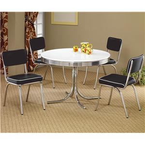 Coaster Cleveland 5 Piece Dining Set