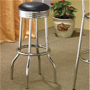 Chrome Plated Soda Fountain Bar Stool