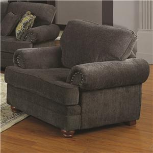 Traditional Styled Living Room Chair With Comfortable Cushions
