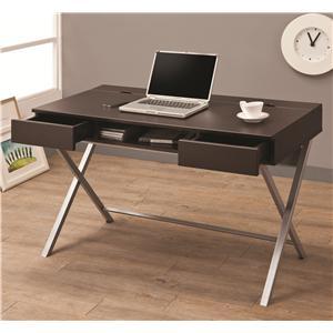 Coaster Desks Connect-It Desk (Cappuccino)