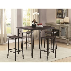 Industrial Inspired 5 Piece Dining Set