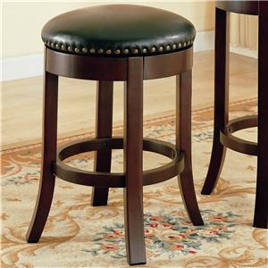"""Coaster Dining Chairs and Bar Stools 24"""" Swivel Bar Stool with Upholstered Seat"""