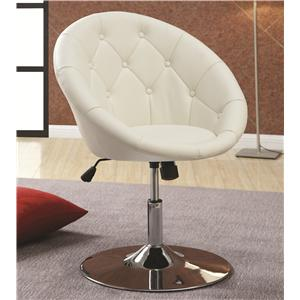 Coaster Dining Chairs and Bar Stools Swivel Chair (White)