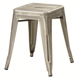 Coaster Dining Chairs and Bar Stools Silver Metal Stool
