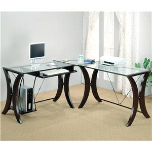 Coaster Division L Shape Desk