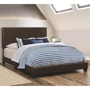 Leatherette Upholstered Twin Bed