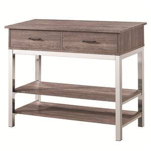 Contemporary Server with 2 Drawers and 2 Shelves