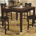 Coaster Ervin Counter Height Table  with Smooth Cracked Glass Insert