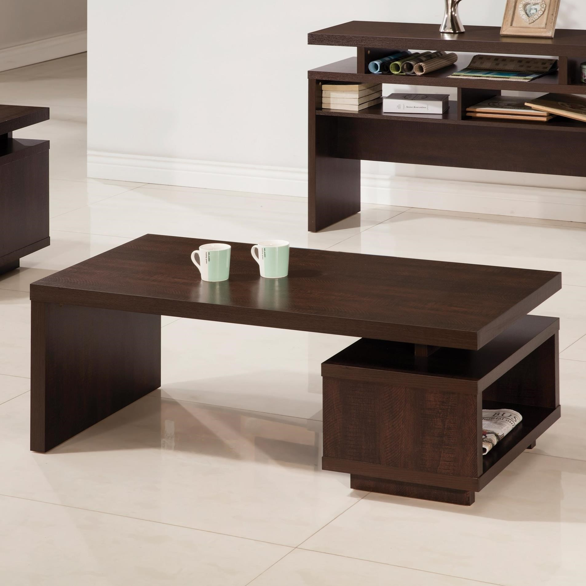 Modern Coffee Table with Floating Top Design by Coaster
