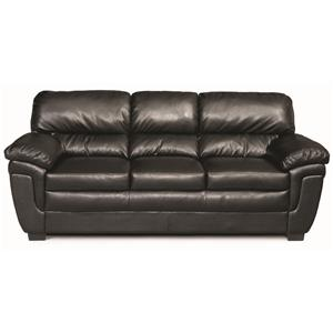 Casual Split Back Leather-Like Sofa