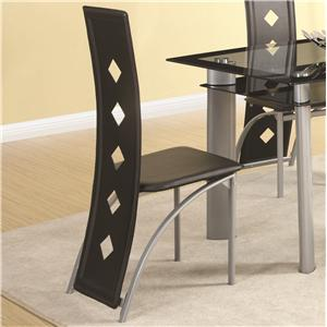 Vinyl Side Chair with Square Pattern Back