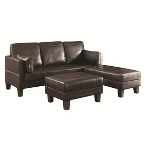 Contemporary Sofa Bed Group With 2 Ottomans
