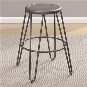 Counter Height Stool with Light Gunmetal Finish