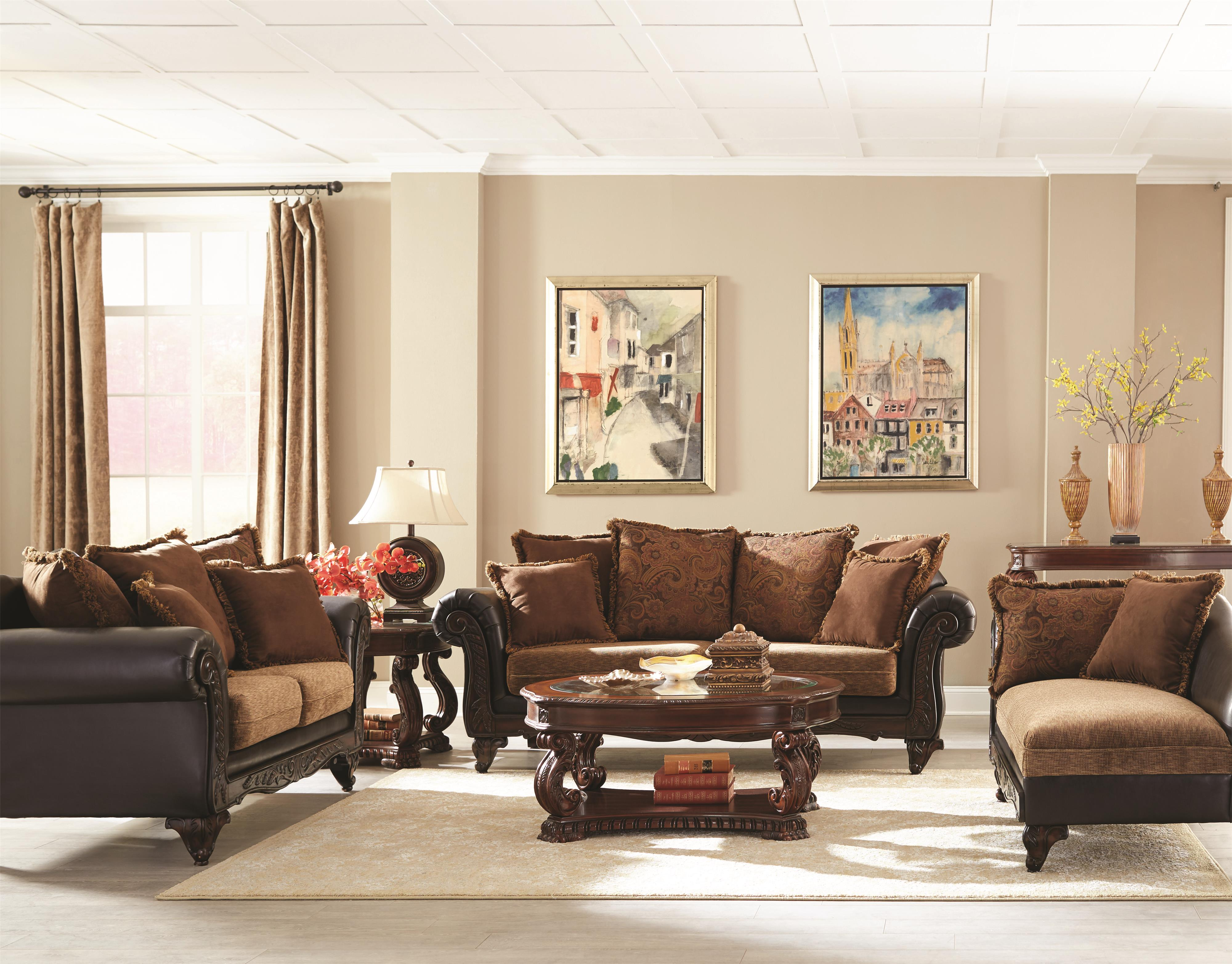 Living room sofas solid rubber carving enjoy living furniture store - Living Room Group