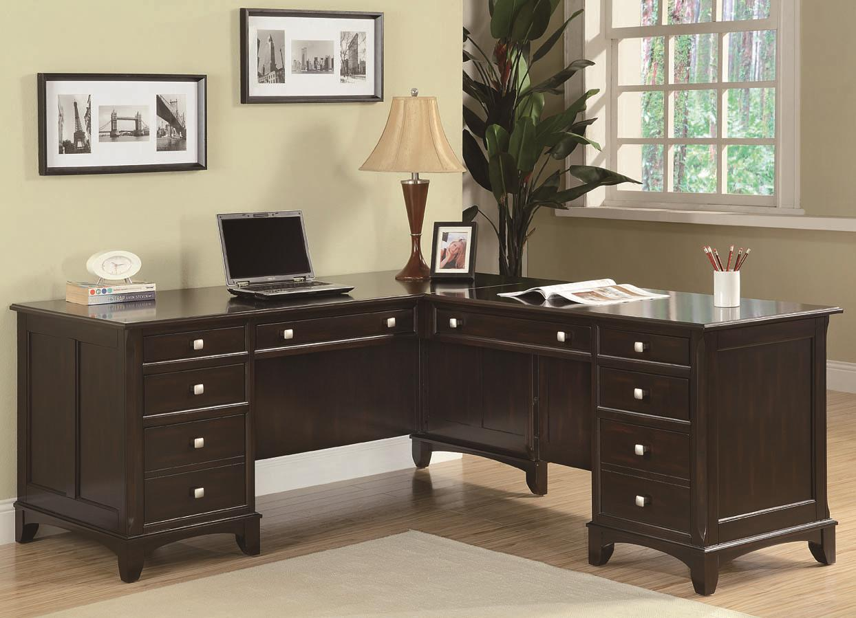 L Shaped Desk With 8 Drawers