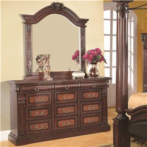Coaster Grand Prado Dresser and Mirror
