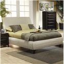 Coaster Phoenix Eastern King Contemporary Upholstered Bed - Bed Shown May Not Represent Size Indicated