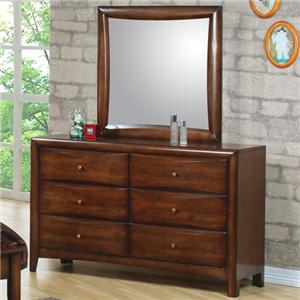 Coaster Hillary and Scottsdale Dresser and Mirror