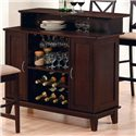 Coaster Mix & Match Contemporary Bar with Wine and Stemware Storage