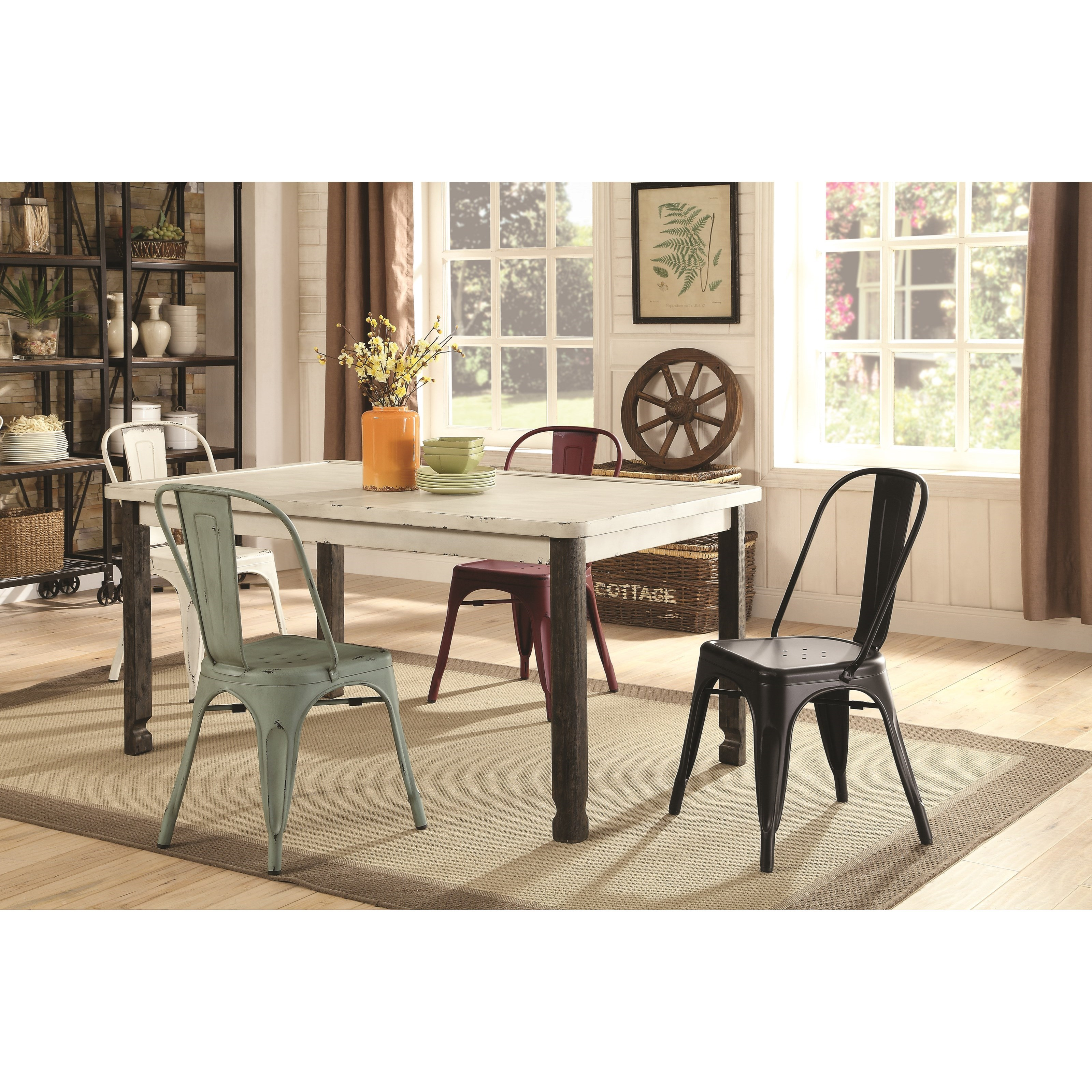 Vintage 5 Piece Rectangular Table and Chair Set by Coaster | Wolf ...