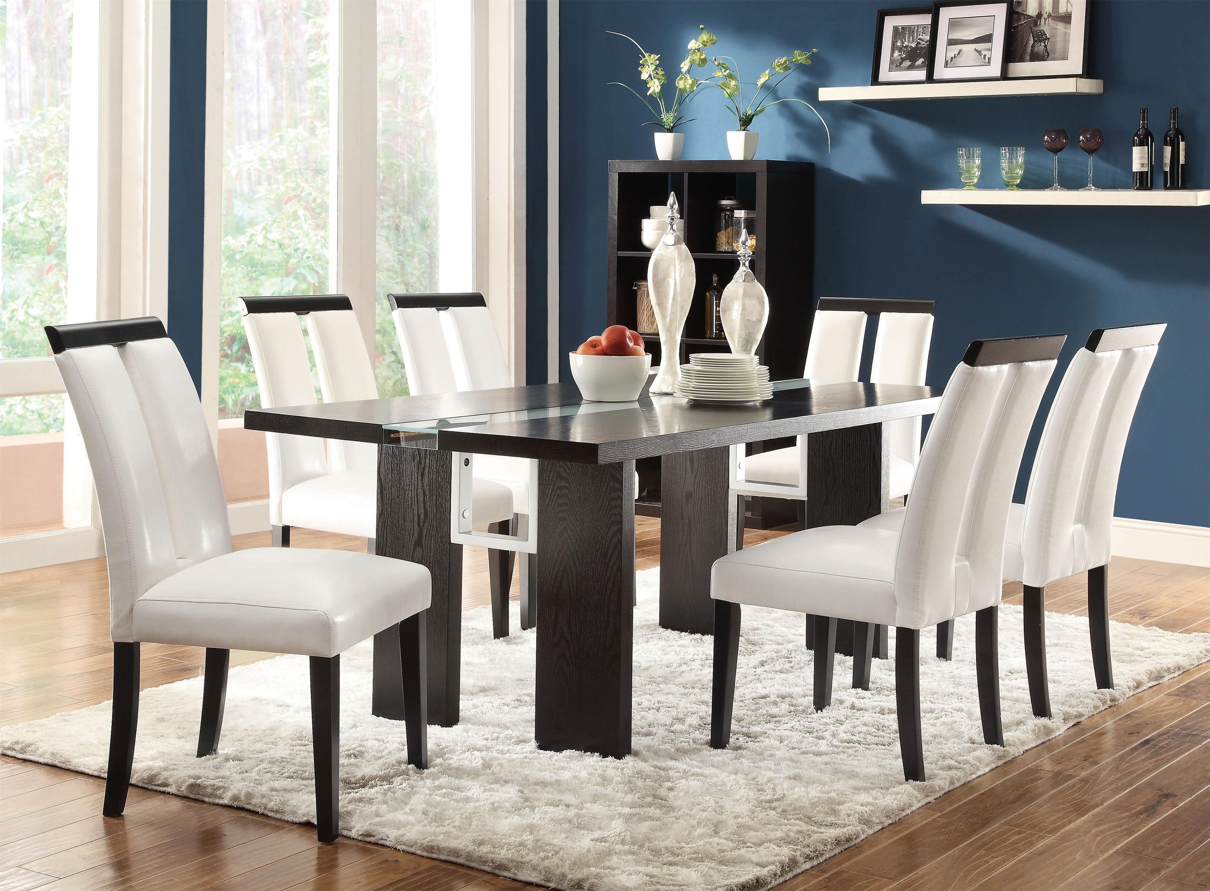 Perfect 7 Piece Set With LED Lit Dining Table