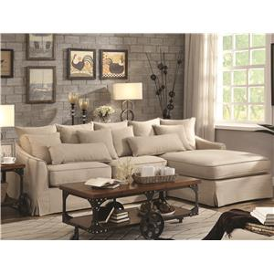 Coaster Knottley Sectional Sofa With Chaise