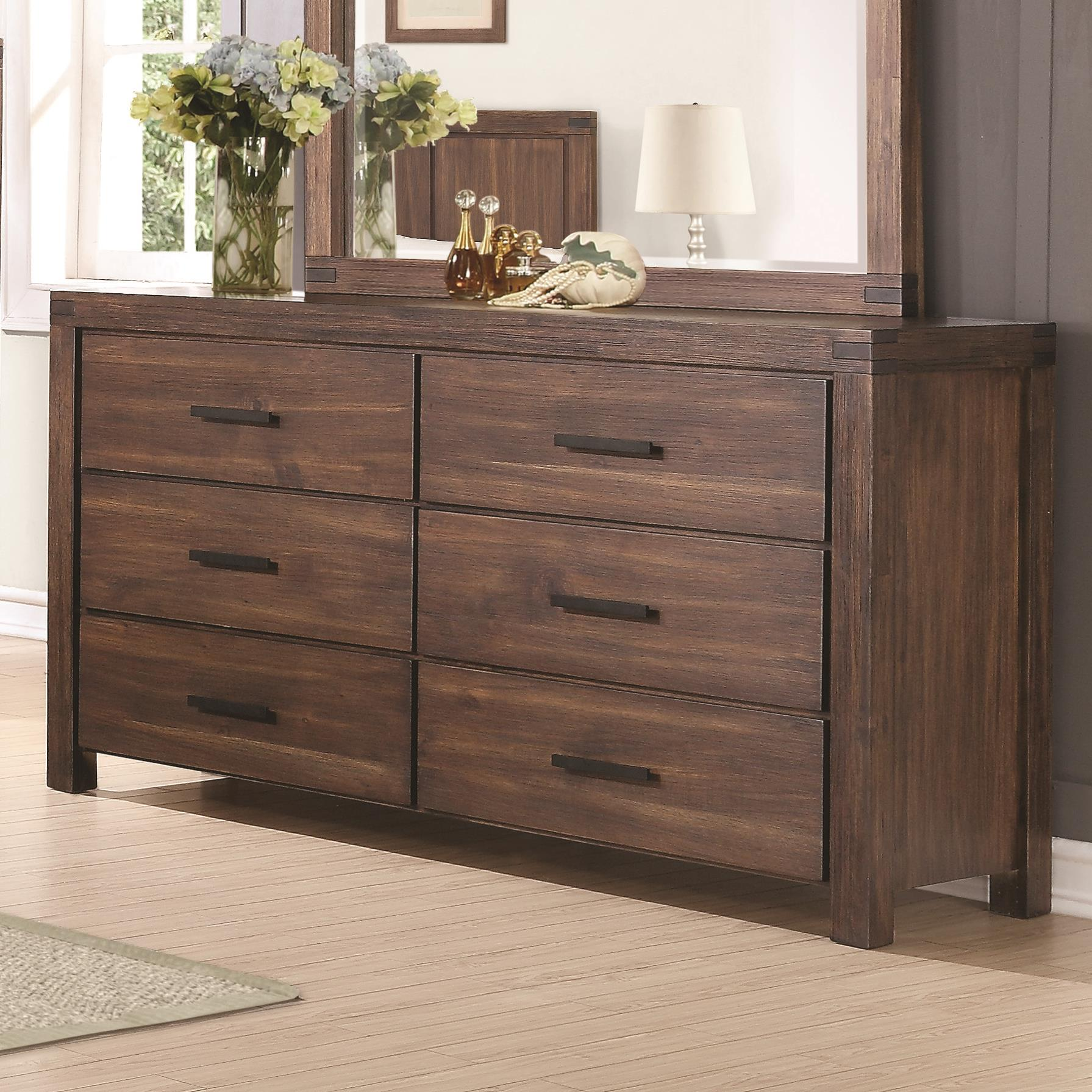 Six Drawer Dresser with Felt Lined Top Drawers and Removable