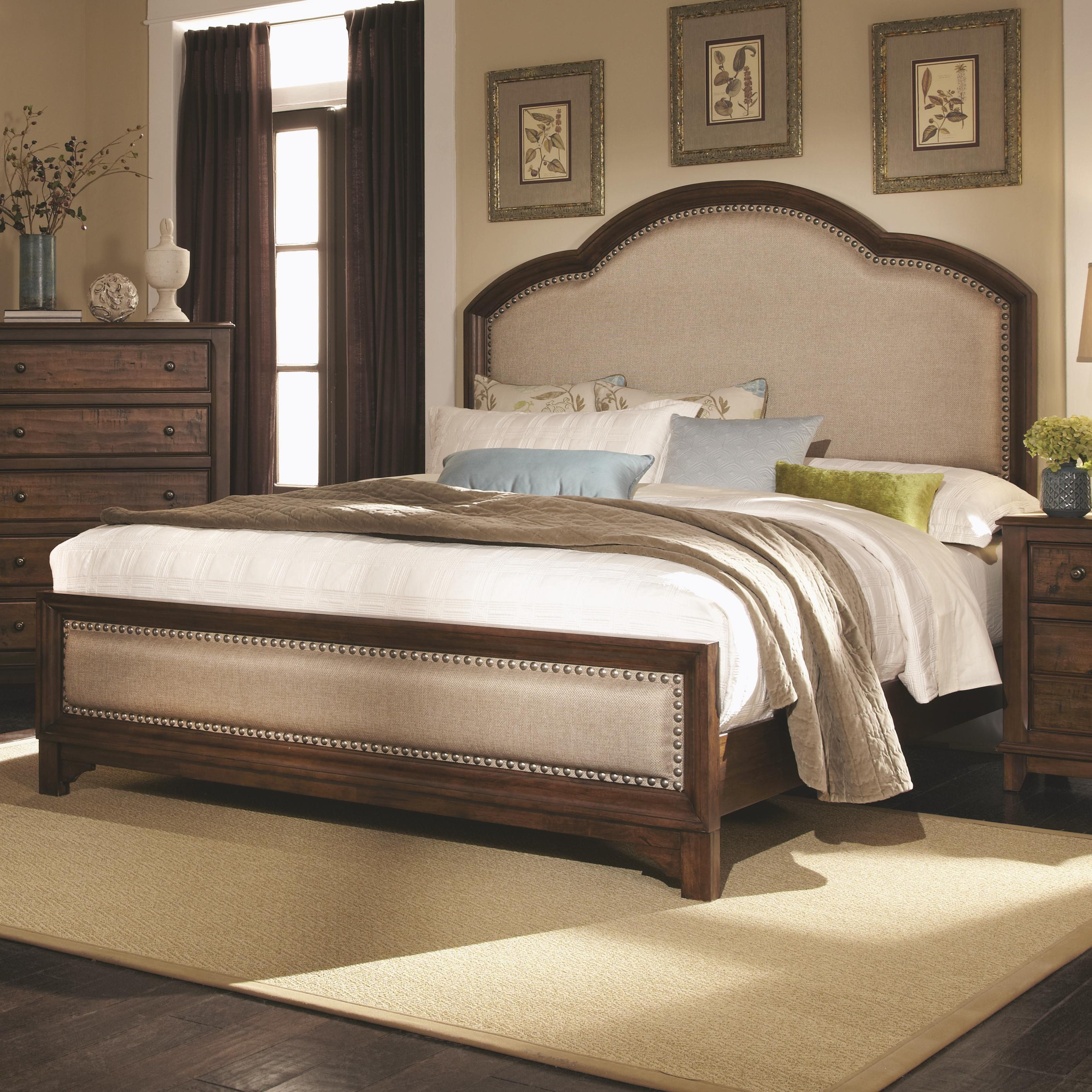 Casual King Upholstered Bed