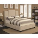 California King Upholstered Bed