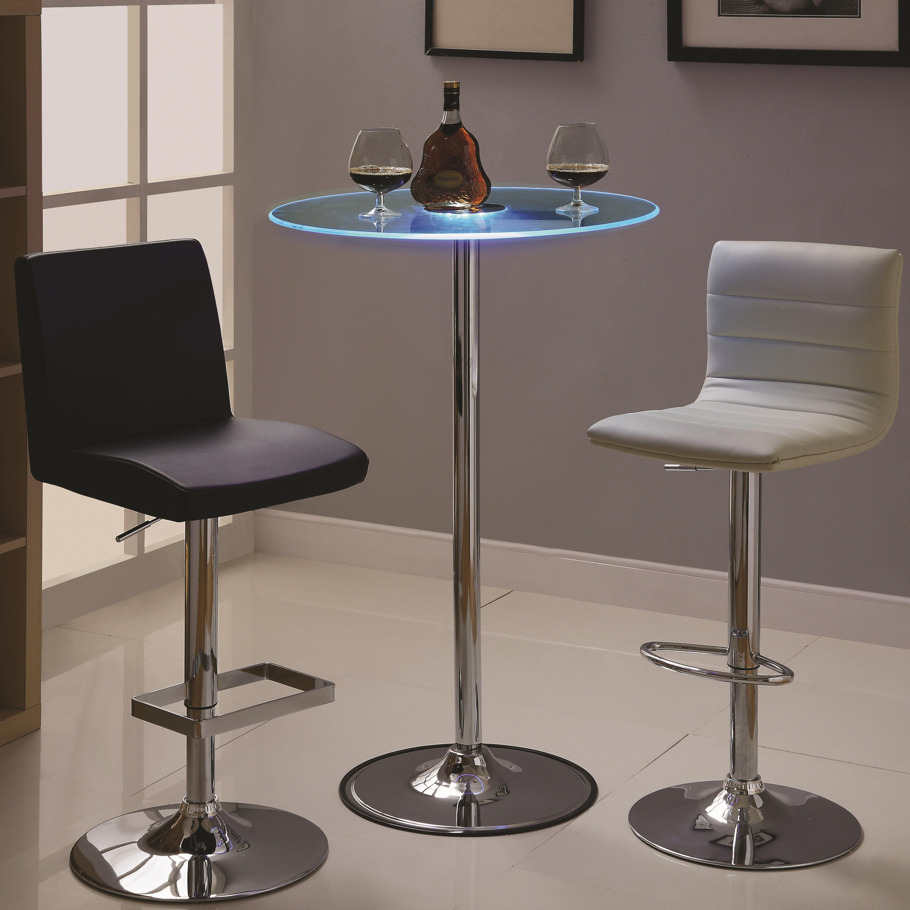 42 Transitioning LED Bar Table with Chrome Base by  : products2Fcoaster2Fcolor2Fled20 20 181734809122400 b3 from www.wolffurniture.com size 3664 x 3664 jpeg 784kB