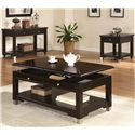 Coaster Liberty Transitional Rectangular Lift Top Cocktail Table with Shelf - Shown with Sofa Table and End Table