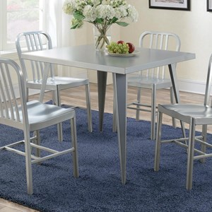 Metal Counter Height Dining Table with Angled Legs