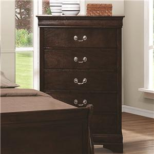 5 Drawer Chest with Silver Bails