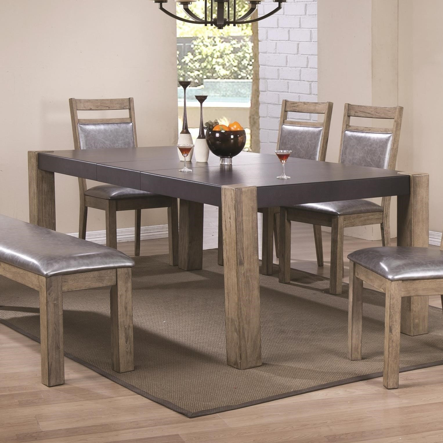 Two-Tone Finish Dining Table with Butterfly Leaf by Coaster   Wolf ...