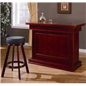 Coaster Mitchell Bar Unit with Storage - Shown with Bar Stool