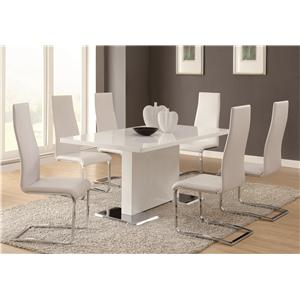 7 Piece Table Chair Set Other Modern Dining By Coaster Select For Comparison Room